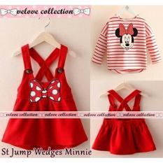 J&C Setelan Jumper Wedges Minnie / Setelan Anak Perempuan / Setelan Anak Cewek / Jumper Anak Cewek /  Kaos Panjang Anak / Kaos Anak / Stelan Anak / Baju Anak 1 Stel