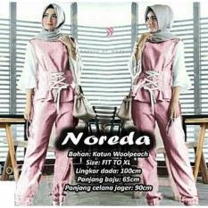 J&C Setelan Muslim Noreda 2 In 1 Set / Setelan Wanita / Celana Muslim / Setelan Baju Muslim / Setelan Muslim / Hijab Fashion / Hijab Style / Blouse Muslim / Baju Celana Muslim / Setelan 2 in 1
