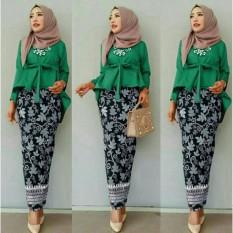 J&C Setelan Rolinda / Kebaya Muslim / Rok Batik / Setelan Kebaya 2 in 1 / Baju Pesta / Rok Panjang Batik / Baju Muslim / Hijab Style / Hijab Fashion
