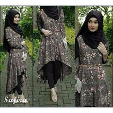 J&C Setelan Safira Flower + Free Pashmina / Setelan Wanita / Setelan Baju Muslim / Setelan Muslim / Hijab Fashion / Hijab Style / Blouse Muslim / Baju Celana Muslim / Setelan 3 in 1