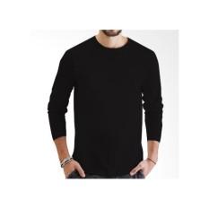 J&J collection Basic Tshirt Unisex-Kaos Polos O Neck Lengan Panjang-100% Cotton-Size MLXL[New Update - Best Item]