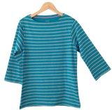 Ulasan Lengkap Tentang Japan Cotton 3 4 Sleeve Long Top Biru