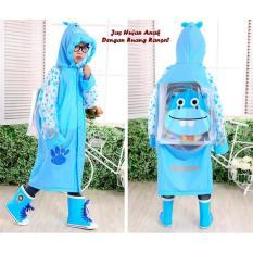Jas Hujan Anak Baju Celana dilengkapi dengan Kantong Ransel