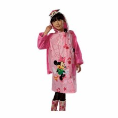 Jas Hujan Anak Perempuan Motif Minnie Mouse Jas Hujan Minnie Mouse - Pink