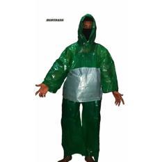 Jas Hujan Baju Celana Plastik Tebu - Hijau ( Paket 2 Pcs )