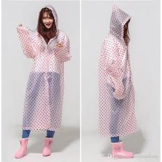 Jas Hujan Korea Polkadot Raincoat Poncho Ponco - Murah.