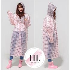 Jas Hujan Korea Polkadot Raincoat Poncho Ponco - Murah