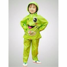 Spesifikasi Jas Hujan Jaket Celana Two Piece Anak Kido Zv 001 Green