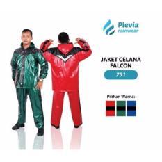Jas Hujan Jaket Celana Plevia 751 FALCON Motor Cowok Pria Rain coat TERLARISS