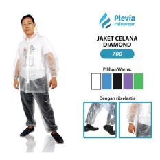 Jas Hujan Jaket Celana Transparan Plevia 700 - Setelan Jas Hujan