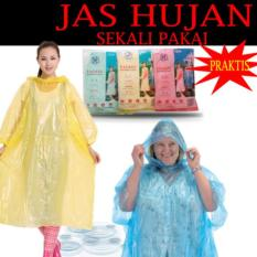 Jas Hujan Sekali Pakai Disposable Rain Coat Raincoat