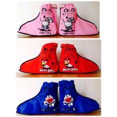 Jas Hujan Sepatu Anak Funcover Kids Angry Birds Hello Kitty Doraemon - Efo2qn