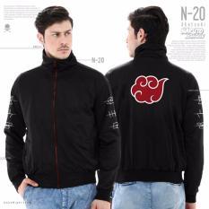Jas Premium - Jacket Anime Naruto Akatsuki Style Trendy N-20 - Hitam