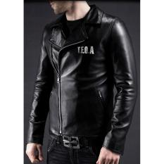 Jas Premium - Jaket Kulit TFOA Black Style Hideto Bando A-3 - Hitam