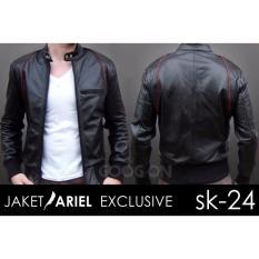 Jas Premium - Jual Jaket Ariel List Merah - Jaket Kulit Sintetis