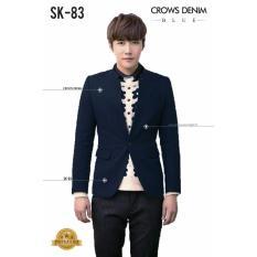 Spesifikasi Jas Premium Royal Blue Skinny Blazer Korean Style Biru
