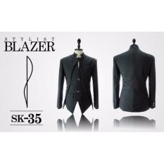 Harga Jas Premium Stylist Blazer Black Casual Trend Fashion Korean Sk 35 Hitam Seken