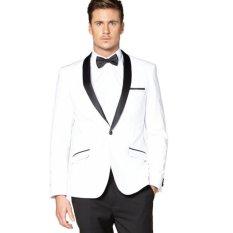Mc Marllo - Jas Pria Formal Wedding - Putih / Jas Formal / Jas Prewedding / Jas Stylish / Jas Maskulin
