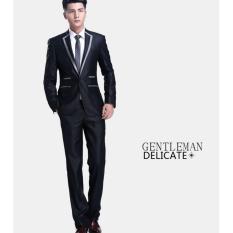 Jual Jas Pria 1 Stel Blazer Korean Style Premium Black Online Di Di Yogyakarta