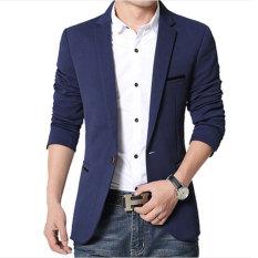 Jas Pria Blazer Pria Luxury Casual Style Male Biru Diskon Akhir Tahun