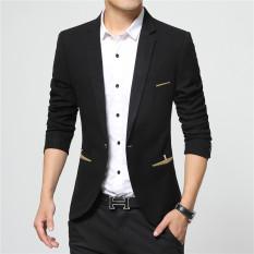 Beli Jas Pria Blazer Pria Suit Men Black List Hitam Dengan Kartu Kredit