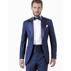 Jual Setelan Jas Pria Formal Modern British Style Jas Formal Pria Exclusive Wedding Jas Formal Limited Edition Jas Celana Blue Ocean Mc Marllo Branded