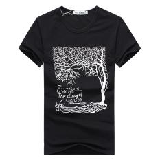 Pusat Jual Beli Jasieter Kaos Pria Lengan Pendek Bahan Polyester Kerah Bulat Gaya Korea Pohon Hitam Tiongkok