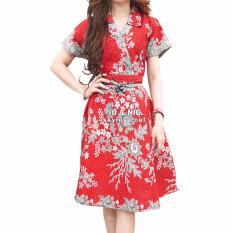 JO & NIC Jasmine Kimono Dress Batik Modern BT502 - Red
