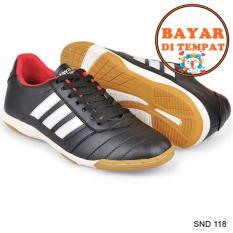 Java Sepatu Futsal Keren Dengan Jahitan Sole Yang Kuat SND 118 - Hitam