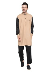 Java Seven JSR 037 Kemeja Muslim pria - cotton - bagus & elegan (coklat)