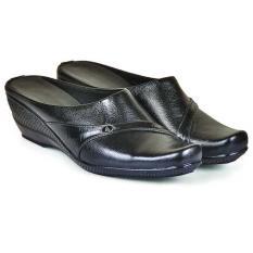 Java Seven Jup 117 Sepatu Slop Formal Wanita-Kulit-Cantik Terbaru 2017(Hitam)(EU:40)(OVERSEAS)