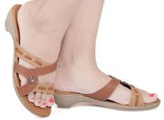Beli Java Seven Rht 239 Sandal Casual Wanita Syntetic Bagus Coklat Kom Lengkap