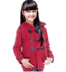 Diskon Java Seven Skr 802 Hoodie Anak Perempuan Fleece Bagus Marun Branded