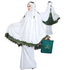 Promo Java Seven Stm 061 Mukena Wanita Cotton Bagus Putih Kom Akhir Tahun