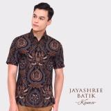 Toko Jual Jayashree Batik Kemeja Kama Black Slimfit Short Sleeve Pria