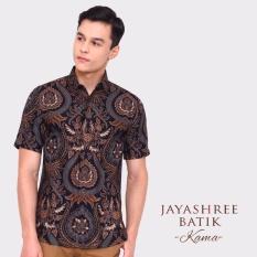 Katalog Jayashree Batik Kemeja Kama Black Slimfit Short Sleeve Pria Jayashree Batik Terbaru