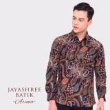 Toko Jayashree Batik Kemeja Slimfit Aruna Brown Long Sleeve Pria Terlengkap Di Dki Jakarta