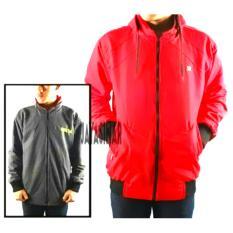 Spesifikasi Jayasinar Jaket Parasut Bolak Balik Merah Abu Tua Lengkap
