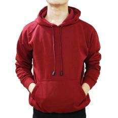 Spek Jayasinar Jaket Zipper Korean Hoodie Oblong Maroon