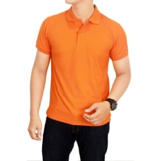 Toko Jayasinar Kaos Kerah Polos Pria Orange Terlengkap