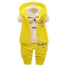 Jc - Baju Anak Anak Pria Minion / Baju Anak Cowok / Baju Anak Kecil / Stelan Baju Anak / Baju Minion