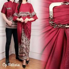 JC - Baju Couple Felicia Maroon  Blouse Couple Batik  Kemeja Pasangan  Baju Couple Murah