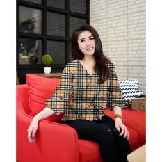 JC- Blouse Wanita Kimono Kotak Kotak VS / Baju Kimono / Baju Terbaru  Harga Murah