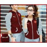 Jc Jaket Couple Arsenal Maroon Abu Jaket Fashion Jaket Pasangan Asli