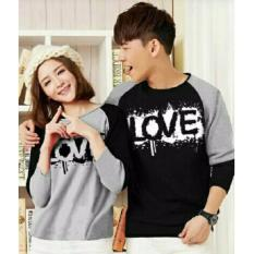 JC - Kaos Couple Blood Love Misty Lengan Panjang  Model Terbaru