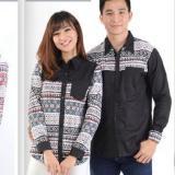 Jc Kemeja Pasangan Strech 012 Hitam Kemeja Couple Baju Pasangan Kemeja Kompak Dki Jakarta Diskon 50