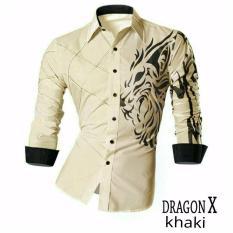 JC - Kemeja Pria Dragon X Khaki  Kemeja Terbaru  Fashion Pria