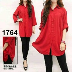 JC - READY STOK KEMEJA / BLOUSE JUMBO POLOS 3XL I TUNIK I FASHION WANITA I BYAR TEMPAT I COUPLE I RAYON BANGKOK I FASHION I