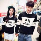 Toko Jc Sweater Couple Marshmello Hitam Putih Sweater Pasangan Couple Termurah Cod Termurah