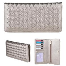 JCF Dompet Wanita Fashion Branded PU Leather Import Lipat - Chloe Gold Bagus Dan Mewah